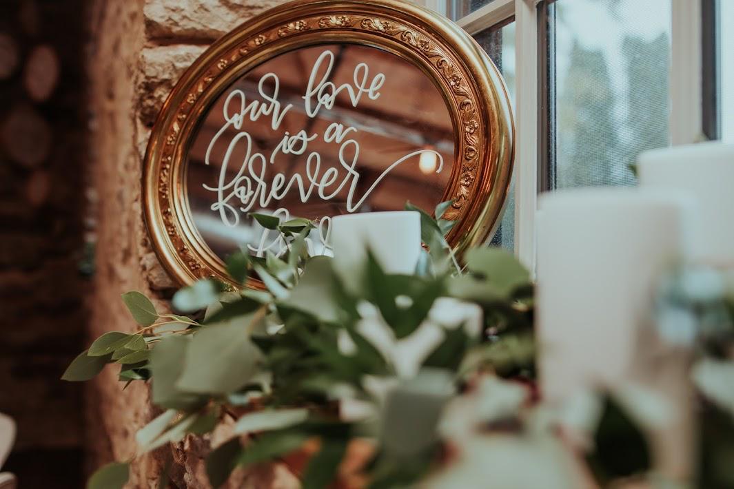 wedding mirror signage wedding signage gold mirror