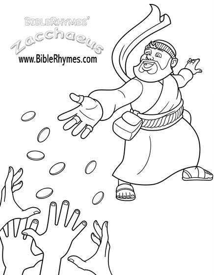 Printable Zacchaeus Coloring Page