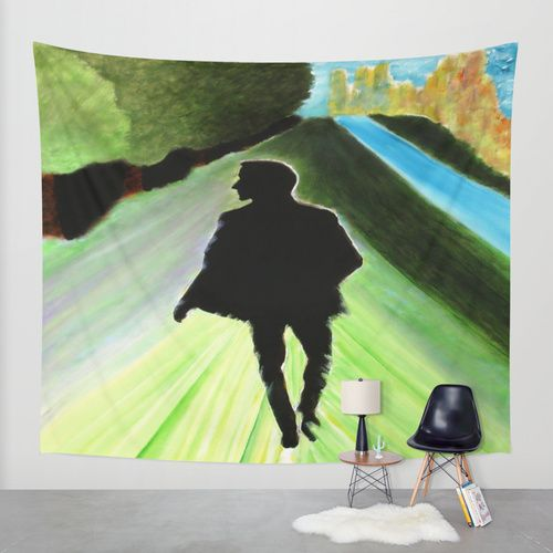 """ GLANCE FROM A STRANGER "" wall tapestry online at Society6.com by Artist Kevin Curtis Barr (513) 824-2371. Email: JesusBarr70@aol.com."