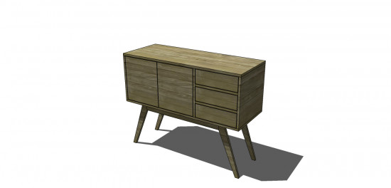 Free DIY Furniture Plans: How to Build an Arden Sideboard | The Design Confidential