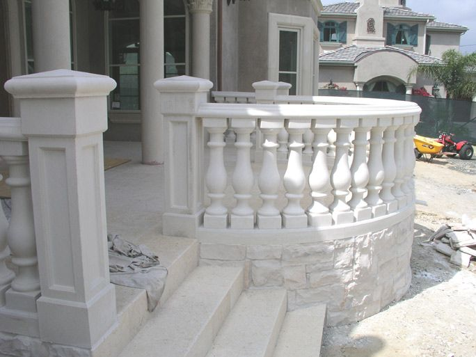 Rounded Concrete Balustrade Balcony Railing Design House Extension Design Railing Design