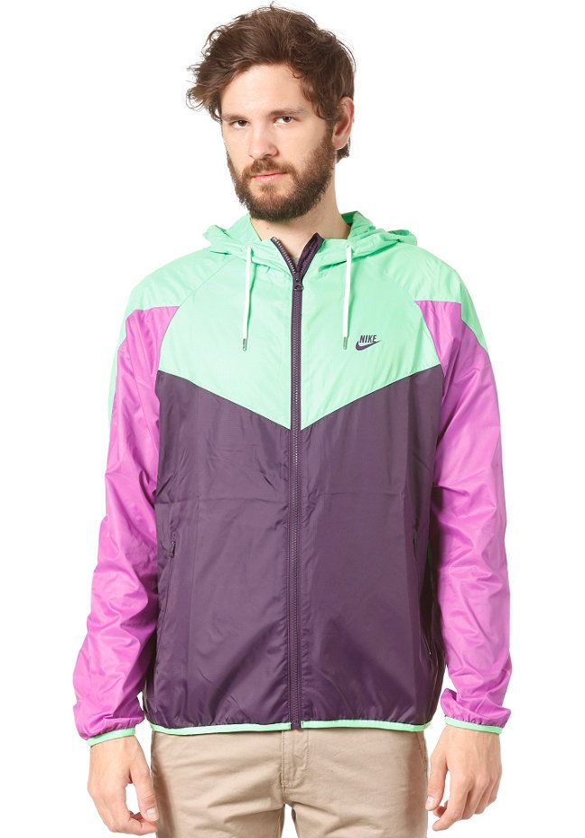 NIKE SPORTSWEAR RU Summer Super Runner Jacket grand purple/poison green/laser purple  #planetsports