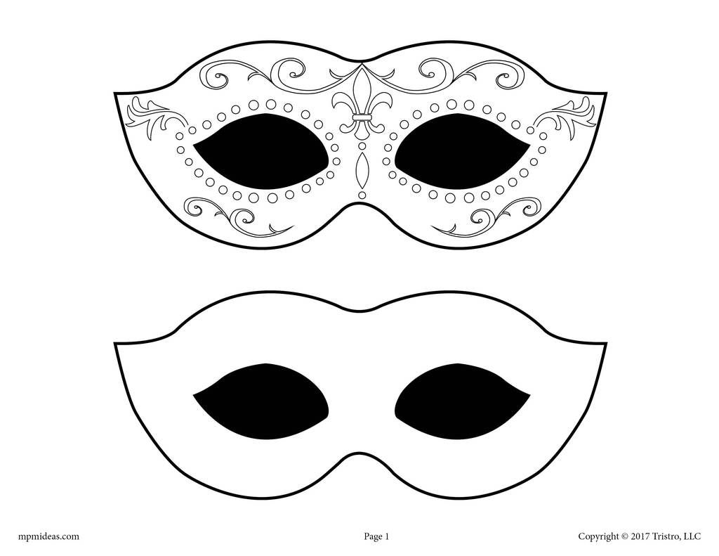Printable Mardi Gras Mask Template Mardi Gras Mask Template