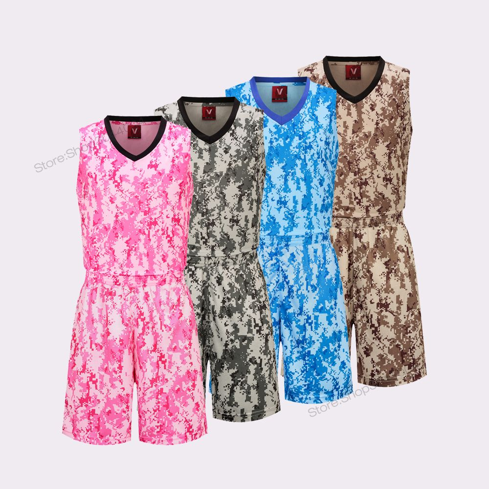 new products 5a7fc add9e Adsmoney New Women Unisex Camouflage Sport Sleeveless Basketball Jersey Set  Breathable College Uniforms Vest Can Customized
