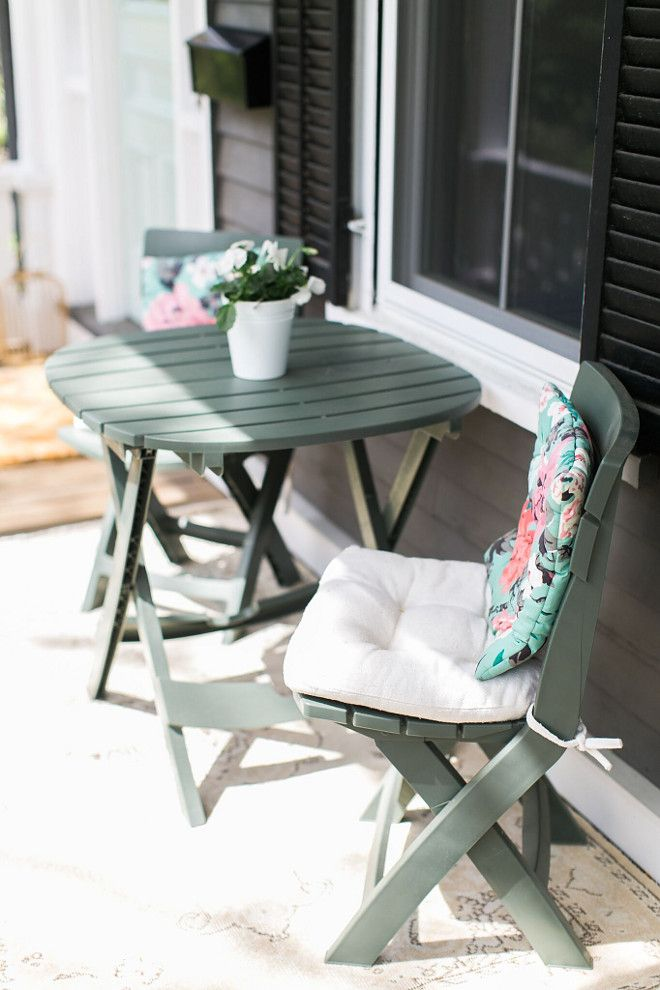 Porch Bistro Set Ideas The Table And Chairs Are From Wayfair