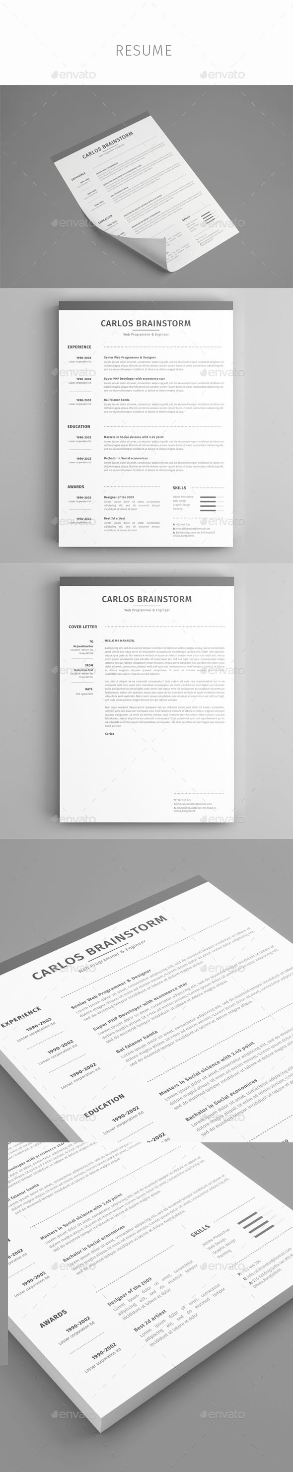 Resume Resume Template DownloadPsd Resume