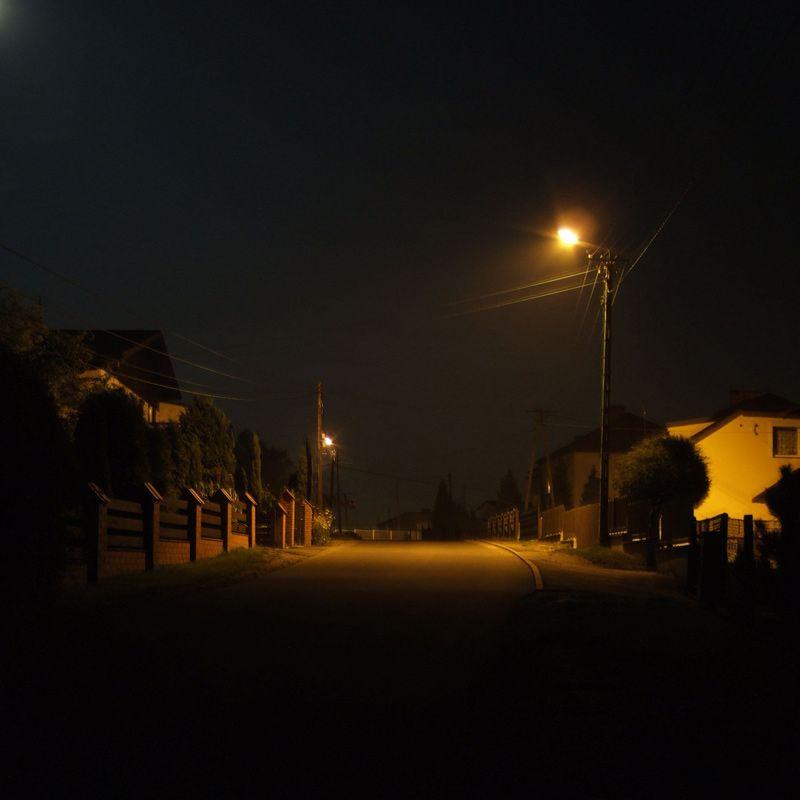 Empty Street At Night Empty Street At Night By Drthinker Night Landscape City Aesthetic Night Aesthetic