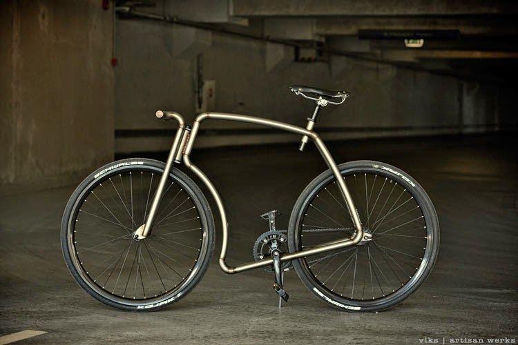 "Viks ""Raw"" Steel Urban Bicycle"