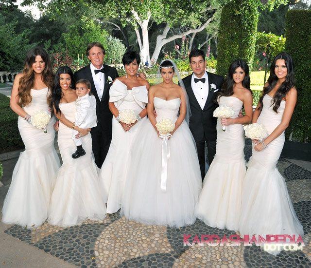 Kim Kardashian Kris Humphries Wedding Photos Khloe