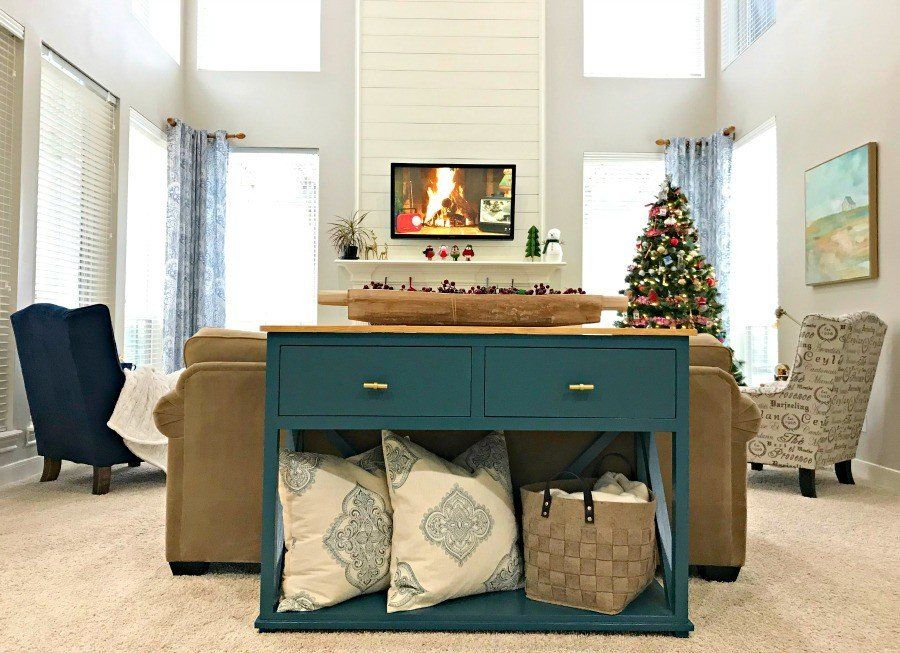 Diy farmhouse console table plan with drawers abbotts at