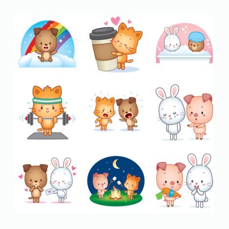 ... Stickers Free for WhatsApp, Telegram, Kik, GroupMe, Viber, Snapchat,  Facebook