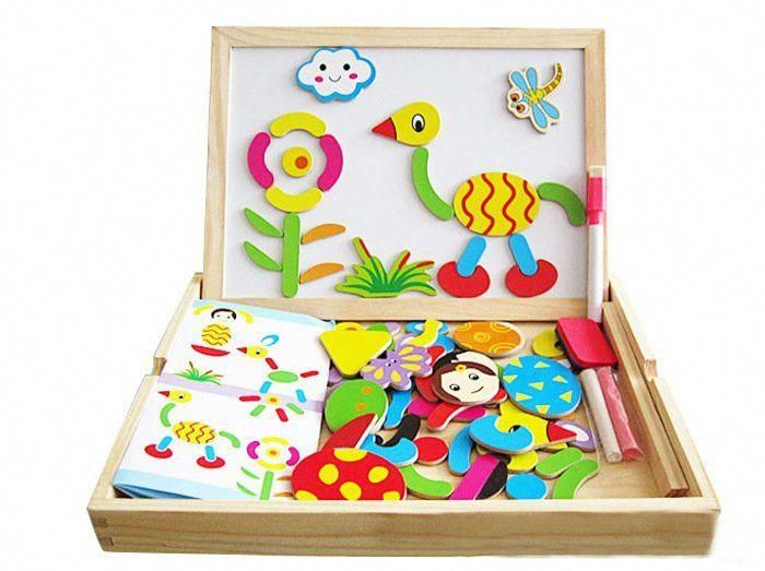 Multifunctional educational wooden magnetic puzzle toys ...