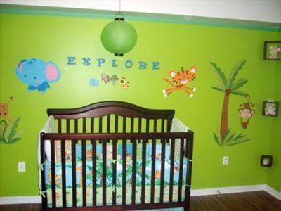 Kylans Tropical Rainforest Nursery Theme Forest Jungle Twins Baby