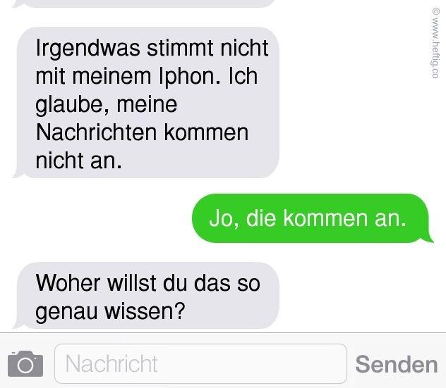 zum ersten Mal SMS