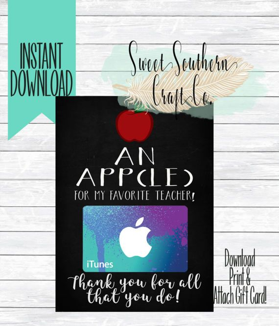 INSTANT DOWNLOAD*An App(le) for My Favorite Teacher!App
