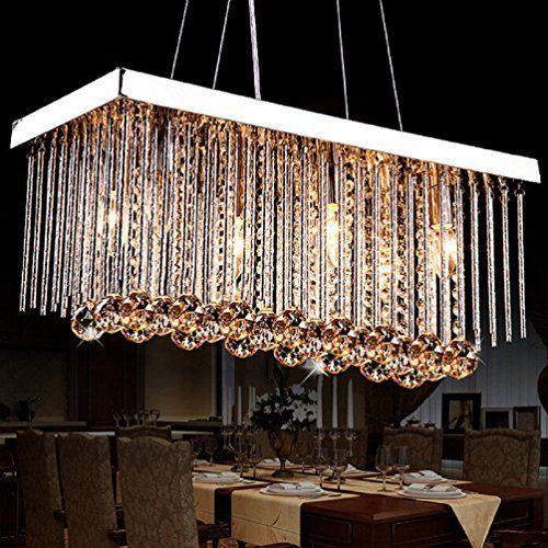 Lightess Lustre en Cristal Moderne Finition Chromée Plafond