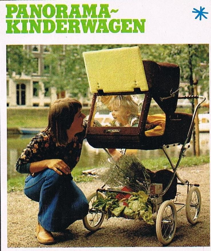 retro kinderwagen pram met inkijkje 1978 groovy retro. Black Bedroom Furniture Sets. Home Design Ideas