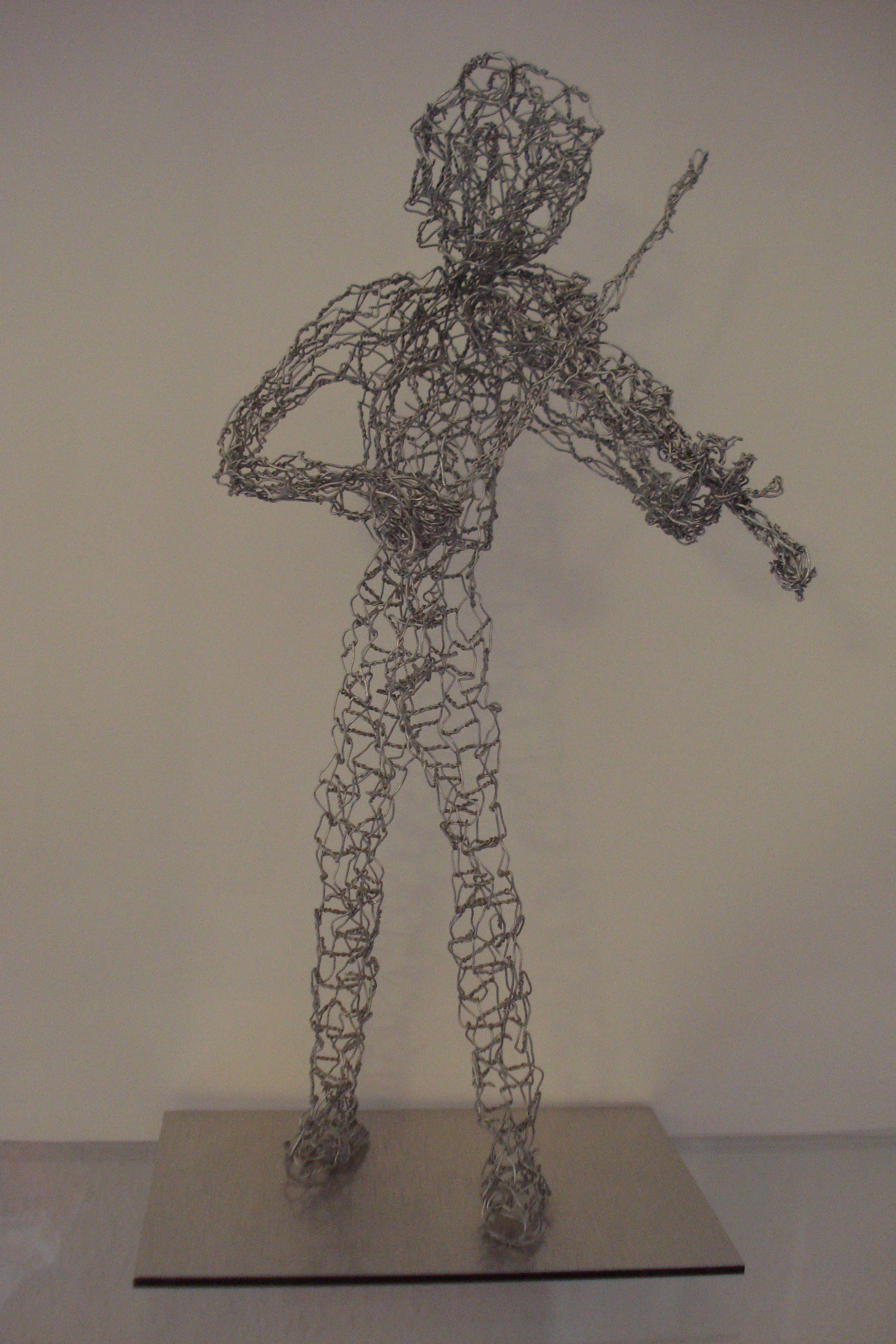 Violoniste - Geiger, fil de fer - Draht, env. 30 cm H, 2012