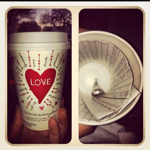 oh me? I write love letters and put them into Starbucks cups to be delivered to a boy on Valentine's Day.