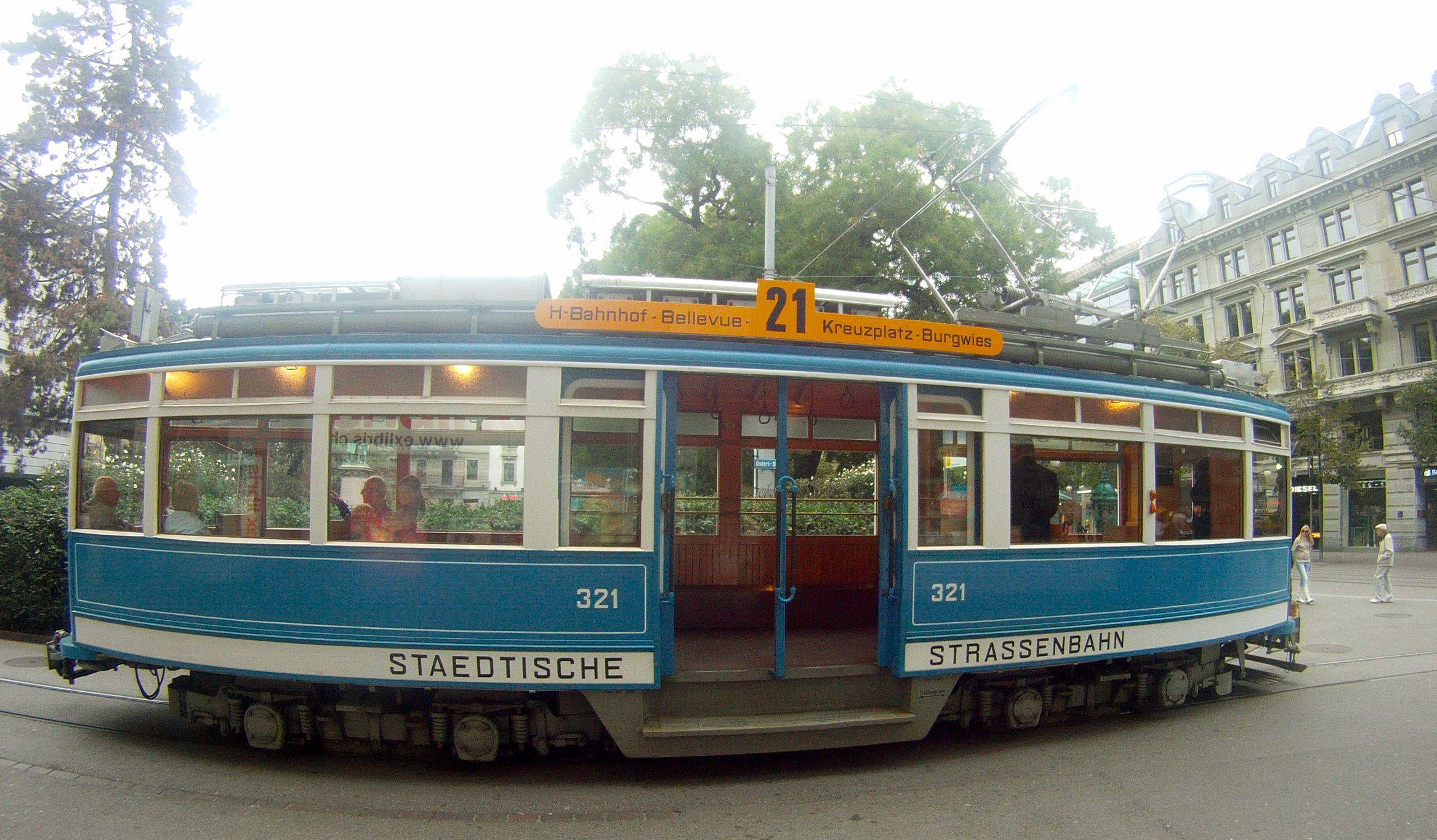 Museumstram Zurich Schweiz