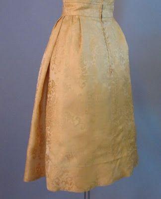 Vintage Detail: Vintage 50s Hattie Carnegie Blue Room Dress