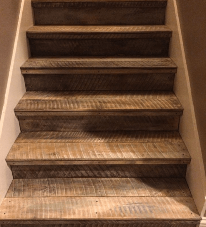 Painted Basement Stairs Ideas: Painted Stairs, Stairs, Rustic