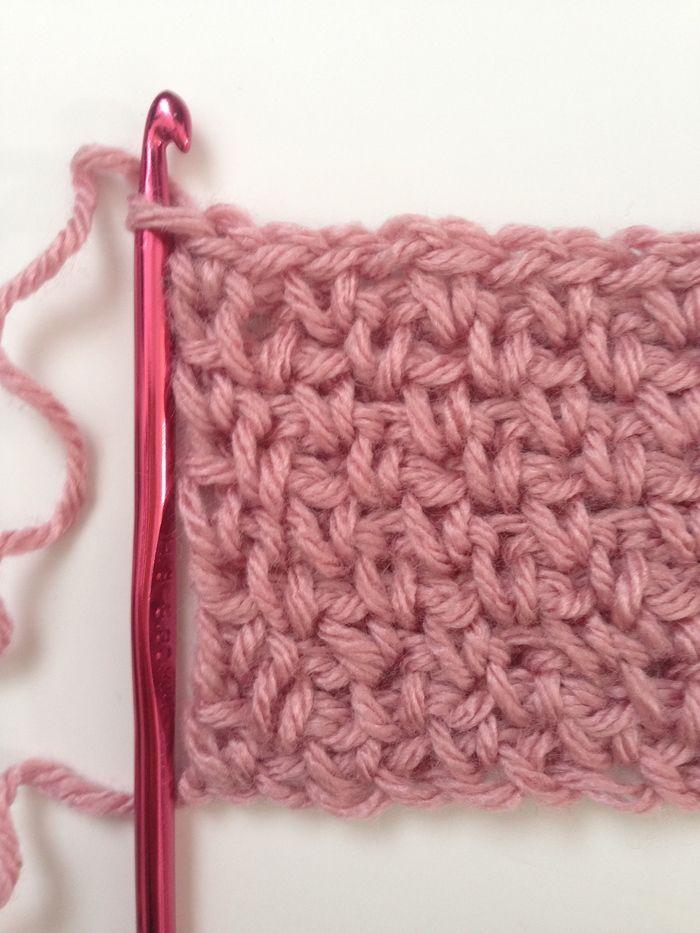 How to Crochet Granite Stitch | Puntadas, Tejido y Ganchillo