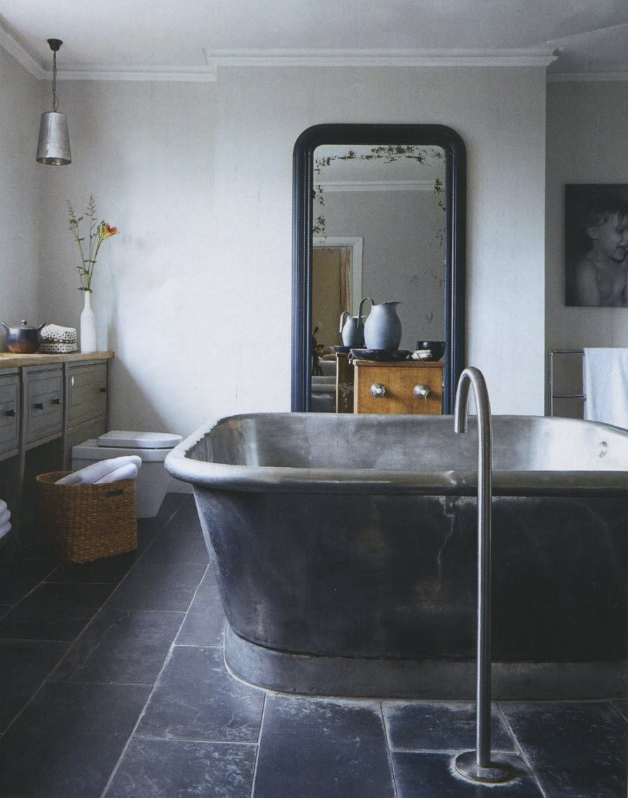 Alvius Bath  William Holland  Large Copper Tin Bath in