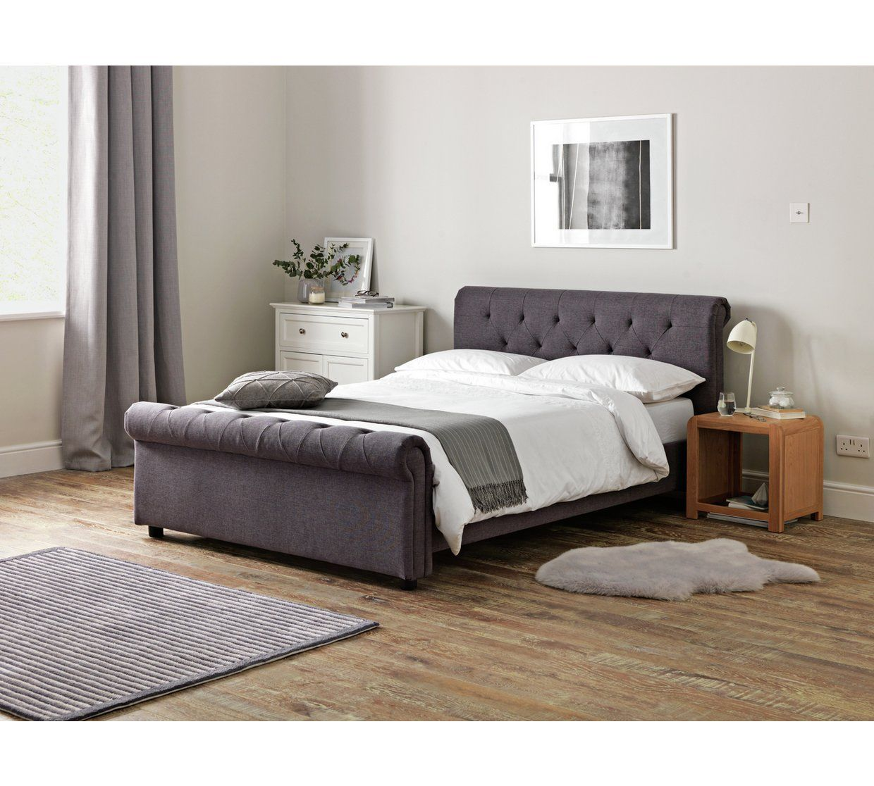 huge selection of 3f34c 8f4b1 Buy Argos Home Newbury Superking Bed Frame - Grey | Bed ...