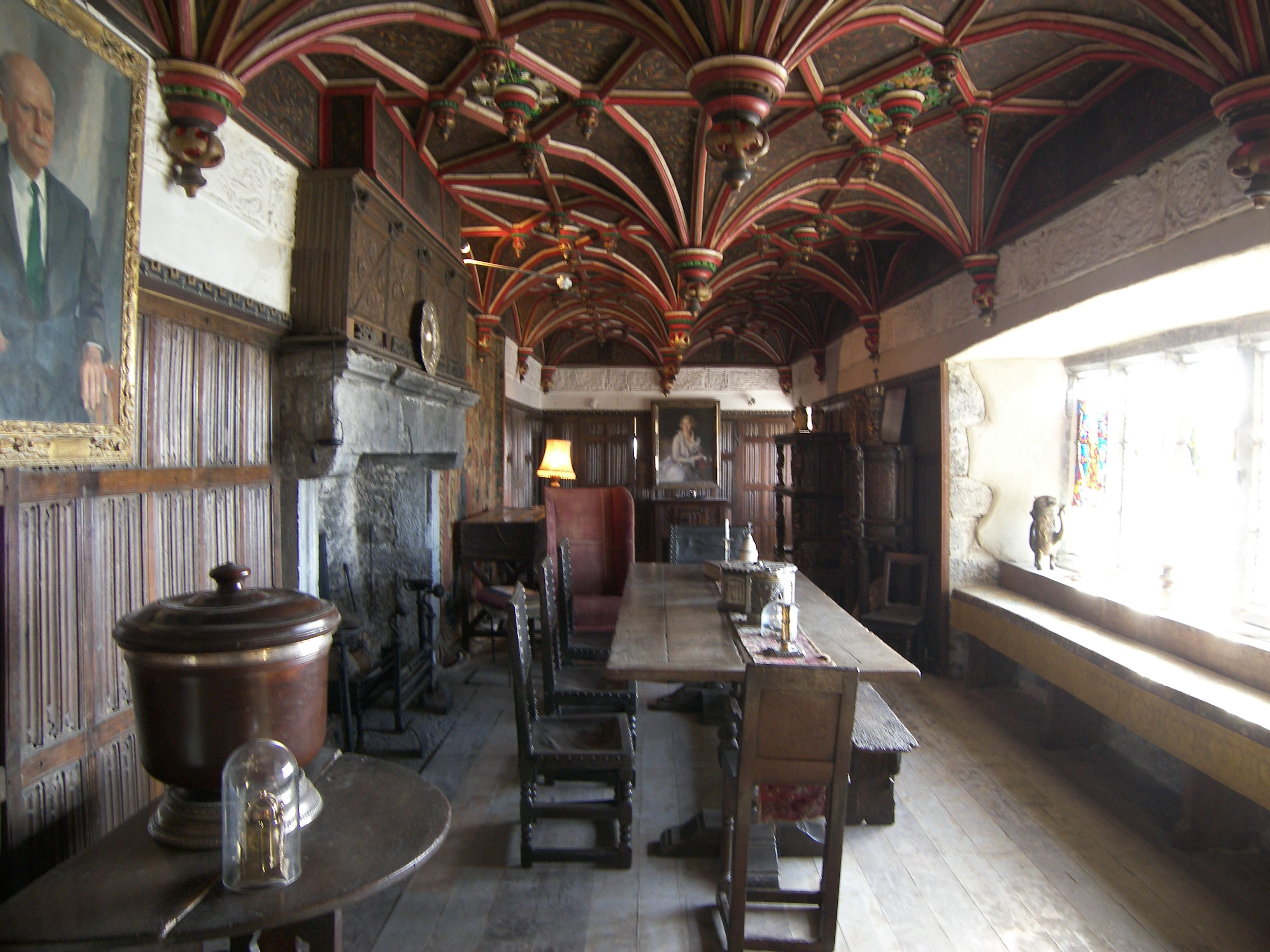 inside of bunratty castle from the inside of