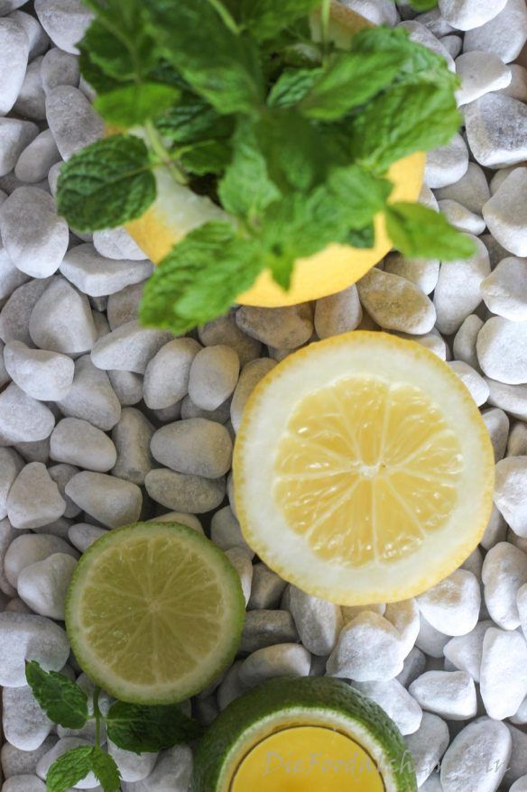 Photo of Zitronen-Minz Tischdeko,  #SommerdekoGartentisch #Tischdeko