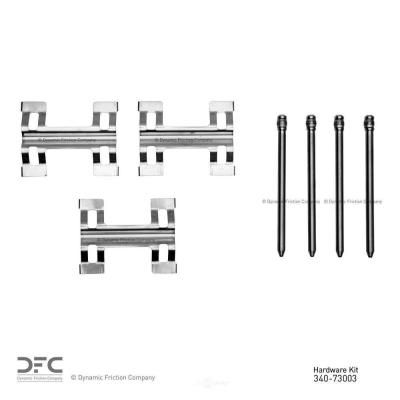 Often overlooked during a brake repair, the disc brake hardware can be stressed, fatigued, or corroded within 1-2 years, which leads to a reduction in spring tension, excessive caliper movement, premature/uneven wear, and noise. To ensure optimum braking performance and total confidence, DFC Disc Brake Hardware kits are precisely designed with the same attention to form, fit, and function as Original Equipment Manufacturers. We've combined the features of PTFE Coating, Vulcanized rubber, and sta