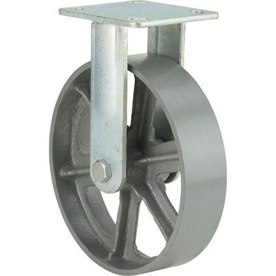Ironton 8in Rigid Steel Caster 1 000 Lb Capacity Steel Casters Steel Caster Wheels Steel