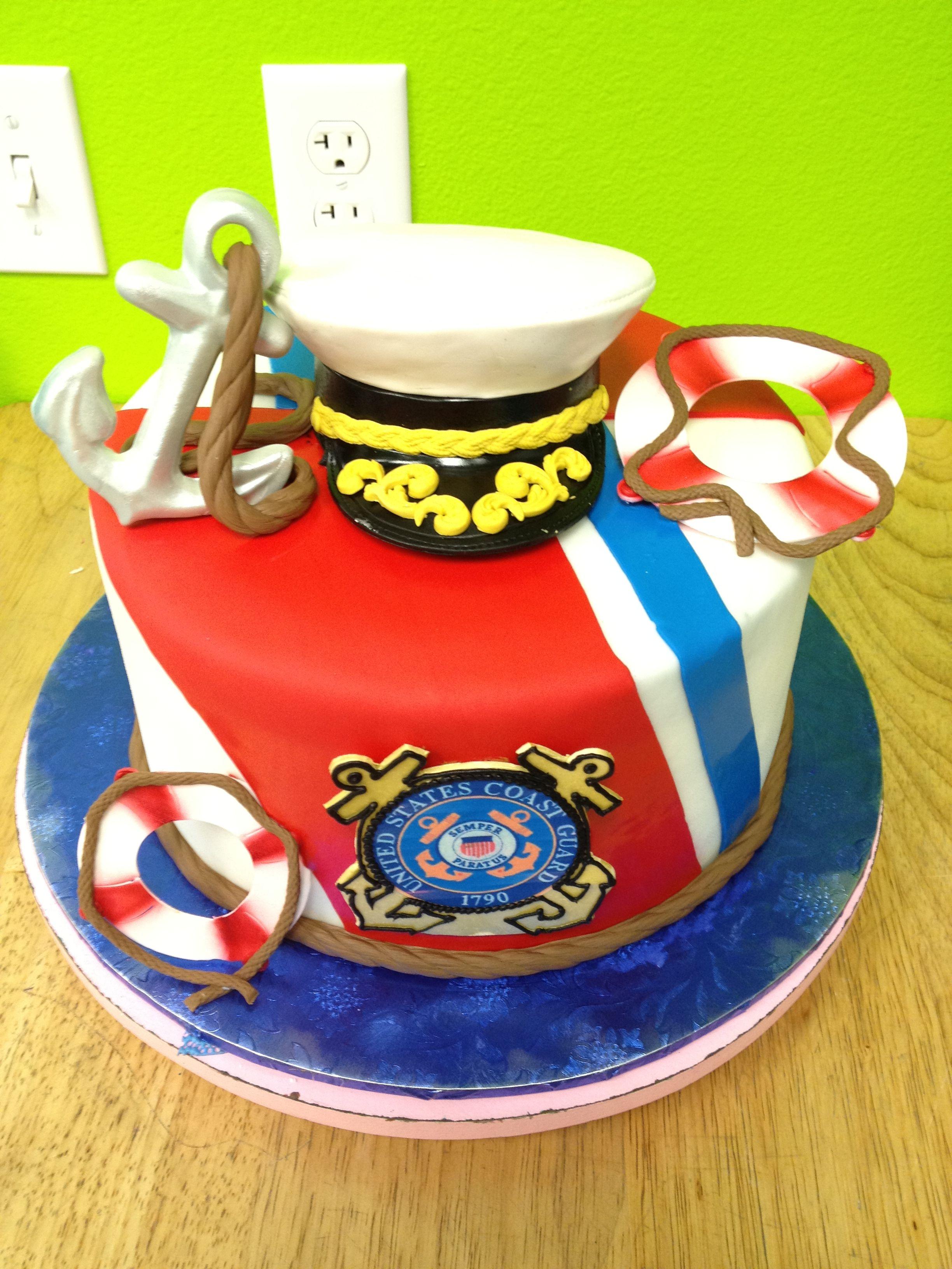 53caff31296 coast guard cake.  hollywoodsrealheros