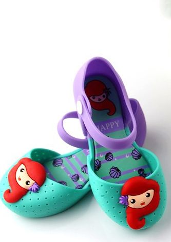 Little Mermaid Jelly Shoe In Purple Now