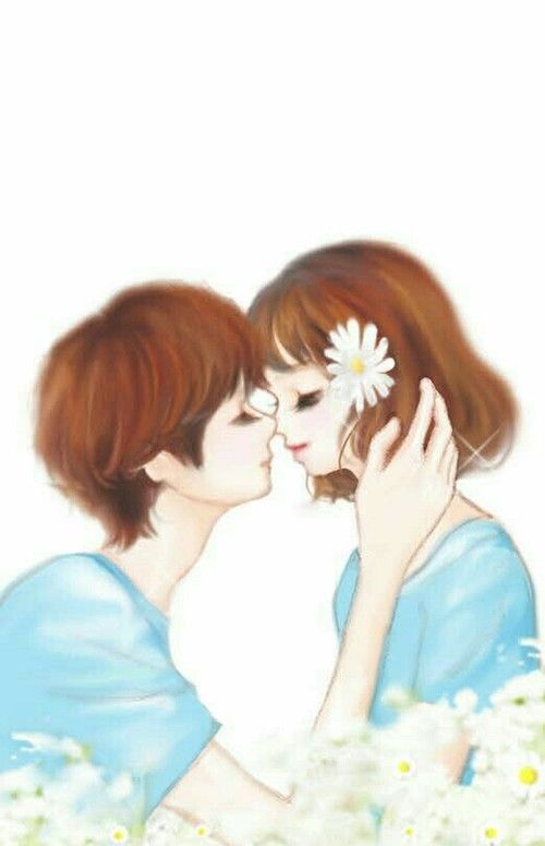 Imagen De Art Korean And Blue Cute Love Wallpapers Romance Covers Art Cute Cartoon Pictures