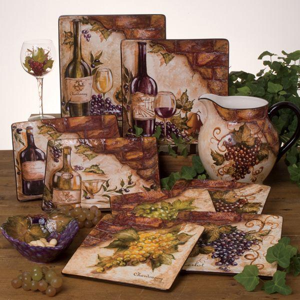 Tre Sorelle Studios Wine Decor Kitchen Grape Decor Grape