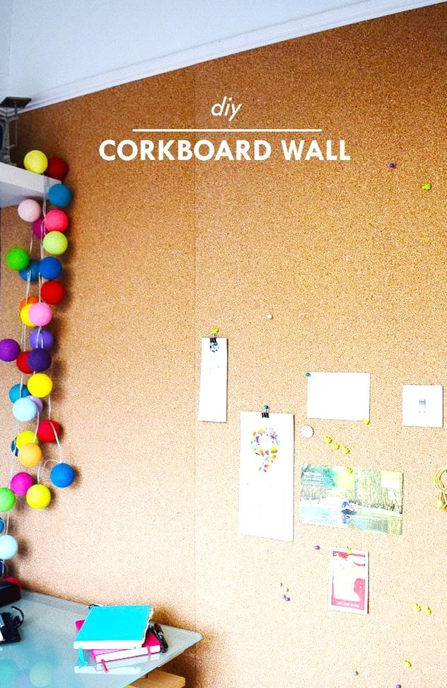 Diy Corkboard Wall In 2020 Cork Board Wall Diy Cork Board Cork Wall