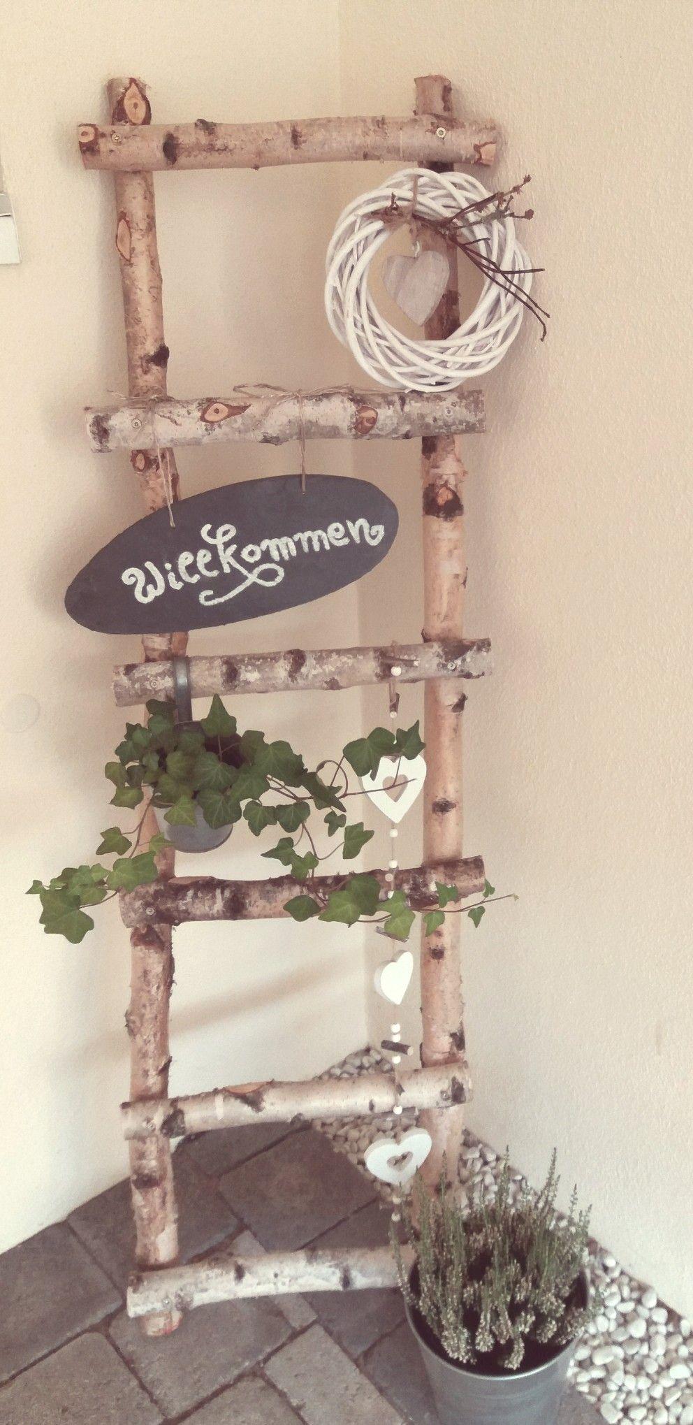 Birken leiter deko diy garden cuties - Richtfest deko ...
