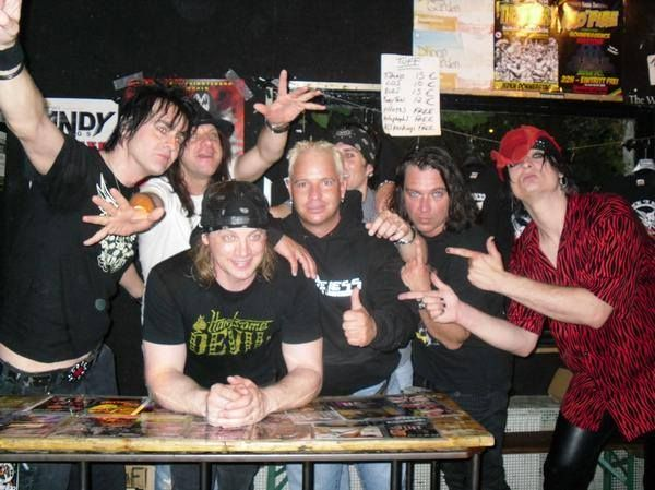 "Tod ""T"" Burr, Davy Vain, Stevie Rachelle Tuff BC, Alexx Michael From Shameless Stevie Rachelle at a club in Germany 2009. Davy sang a few songs with us. Great times."