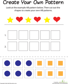ab pattern students math and kindergarten. Black Bedroom Furniture Sets. Home Design Ideas