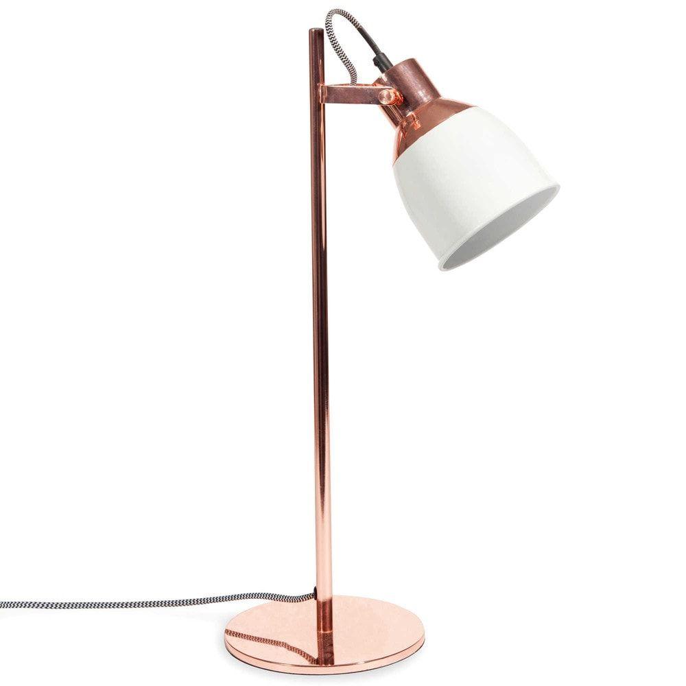 lampe bicolore en m tal cuivr h 50 cm cathy lighting copper copper furniture gold bedroom. Black Bedroom Furniture Sets. Home Design Ideas