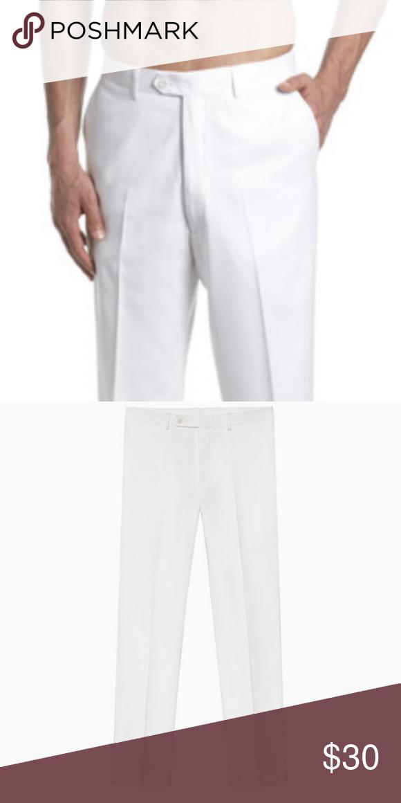 Ck Flat Front White Linen Pants Men 34x30 Nwt Nwt With Images Mens Linen Pants White Linen Pants White Linen Pants Men