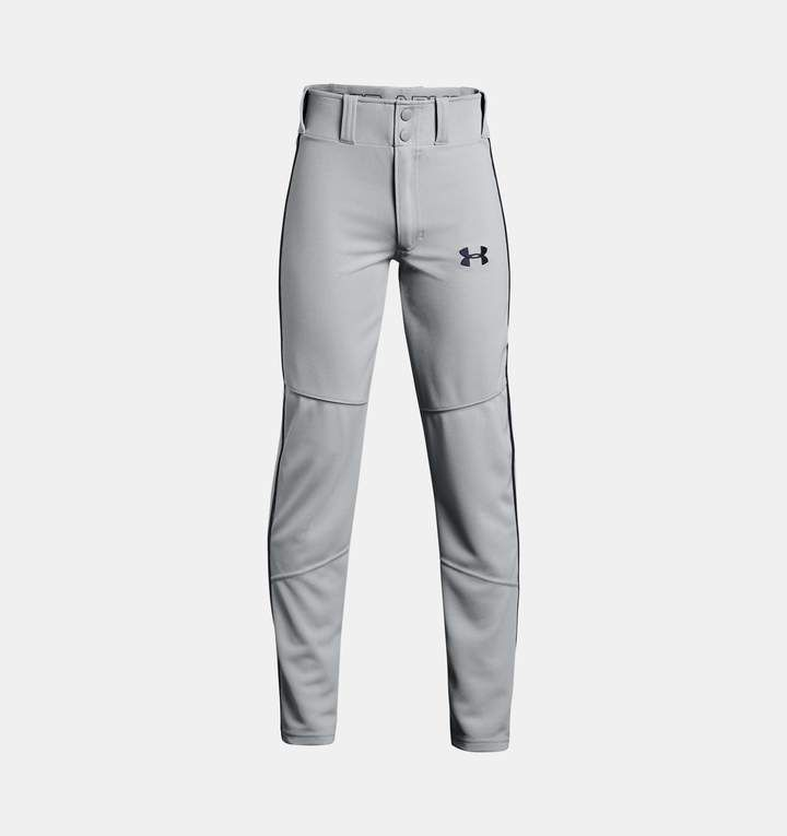 Under Armour Boys Heater Piped Baseball Gray Youth X