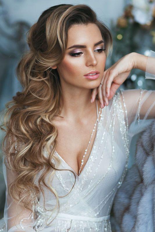 frisuren für Braut - Elegante Hochzeitsfrisuren mit Locken #softcurls