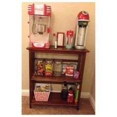 Concession Stand for the Game Room! Thanks @Lorianne Latch for the great idea!!!