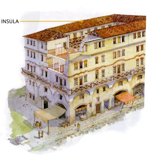 Insula Ancient Roman Architecture Ancient Roman Houses Ancient Architecture