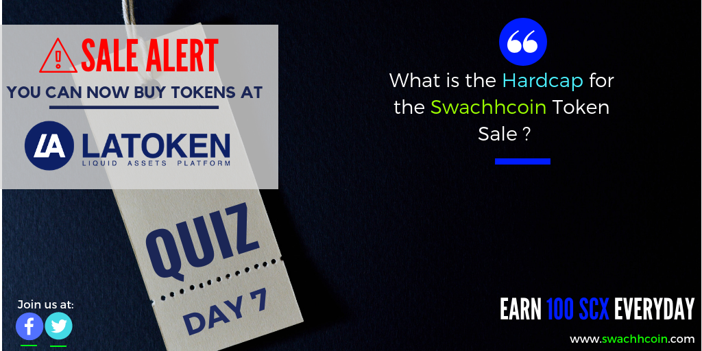 What Is The Hardcap For The Swachhcoin Token Sale Answer Erc20 Wallet Address In The Comment Box Coin Market Cryptocurrency News Blockchain Technology