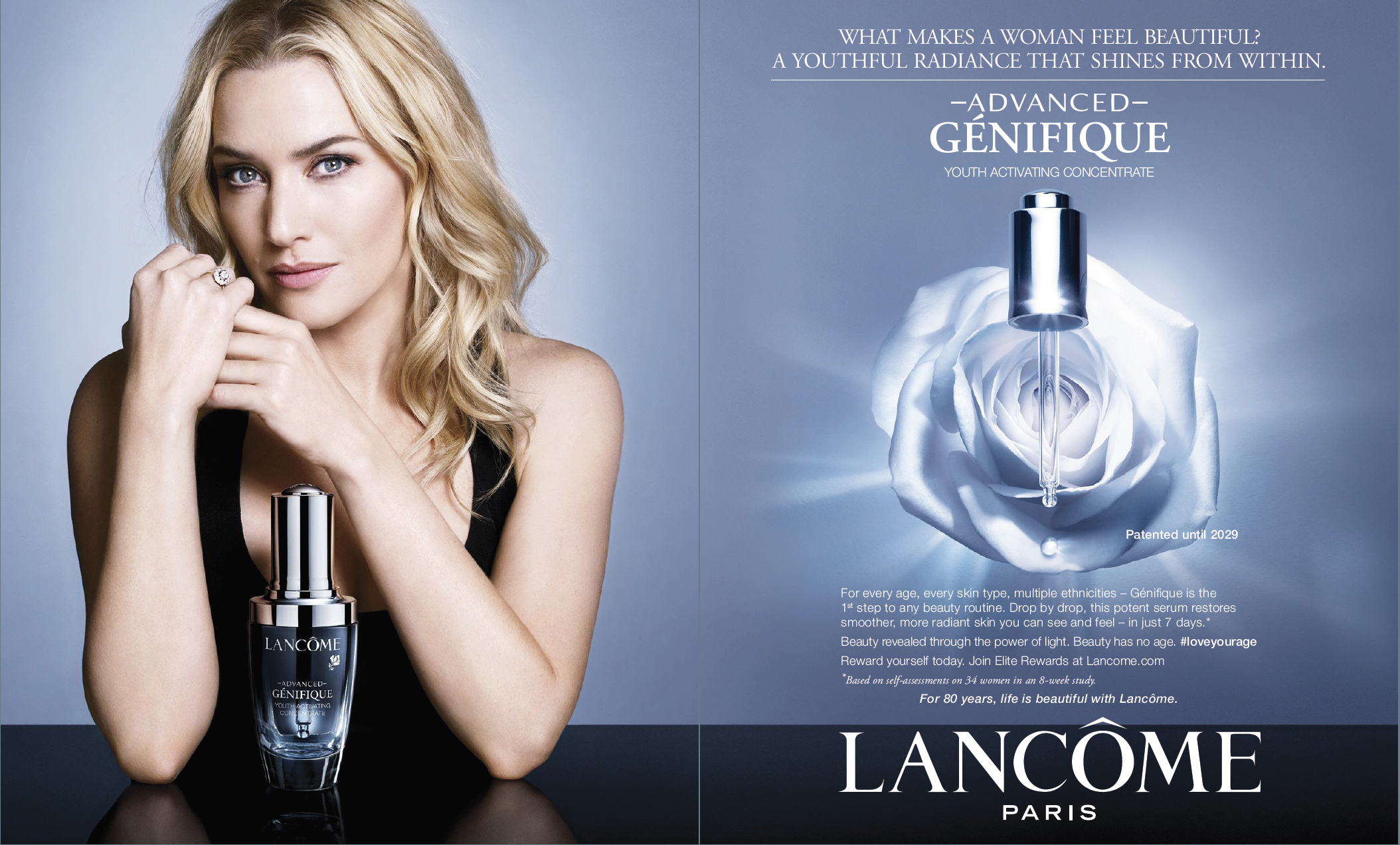 Lancome Advance Génefique adv   Ad s   Current Cosmetic ... 4cdec2d8a84