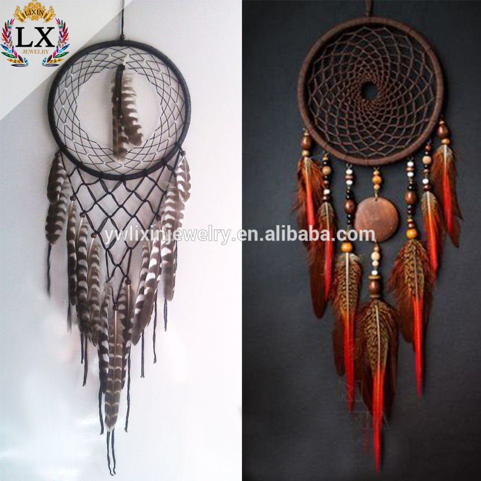 Wholesale Dream Catchers Fair Dlx00032 Wholesale Dream Catcher Wall Hanging Peacock Feather Dream Design Inspiration